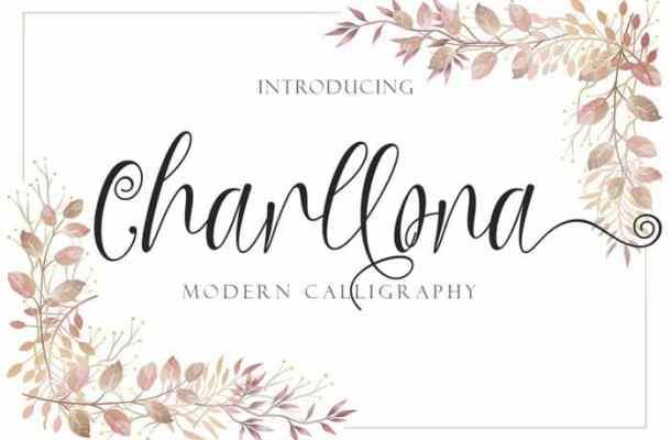 Charllona Calligraphy Font