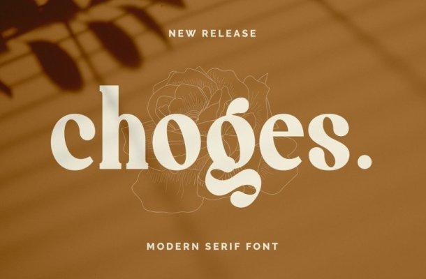 Choges Font