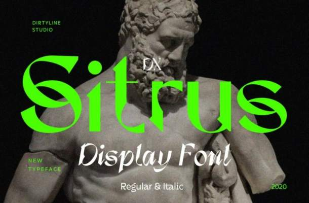Dx Sitrus Display Font