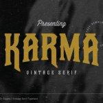 Karma Vintage Font