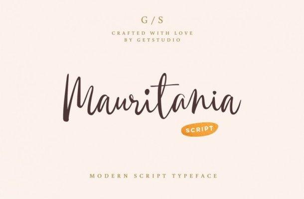 Mauritania Handwritten Font