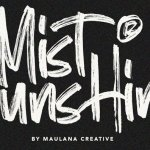 Mist Sunshine Brush Font