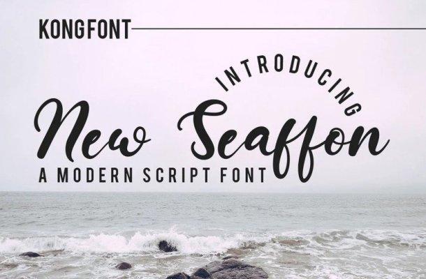 New Seaffon Script Font
