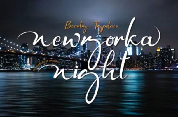 Newyorka Night Script Font