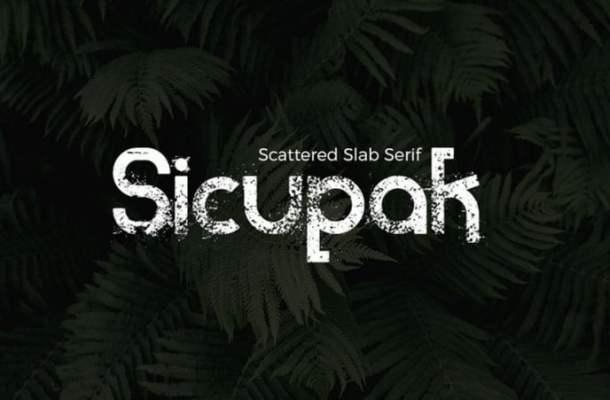 Sicupak Display Font