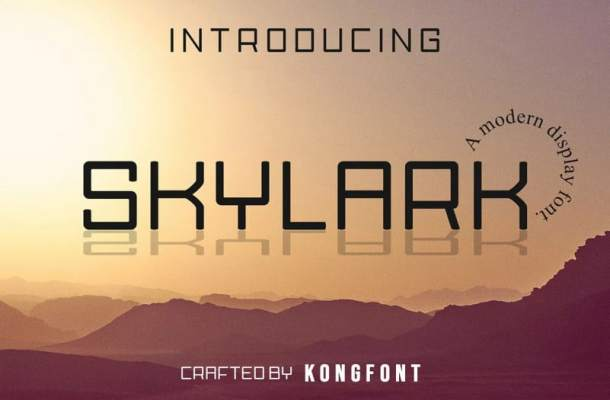 Skylark Display Font
