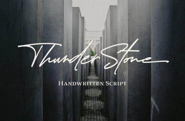 Thunder Stone Handwritten Font