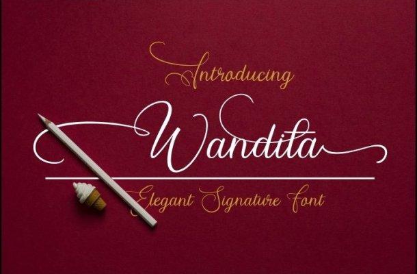 Wandita Script Font