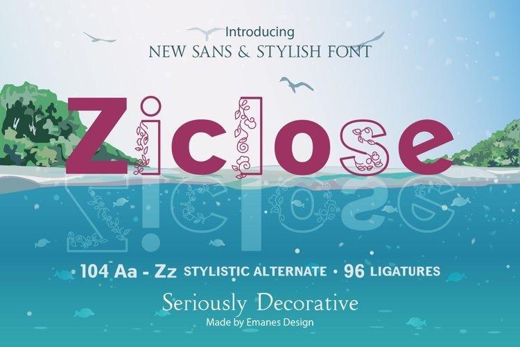 ziclose-font