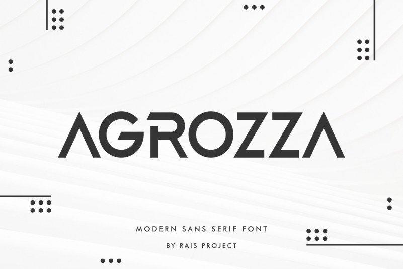 AGROZZA Display Font