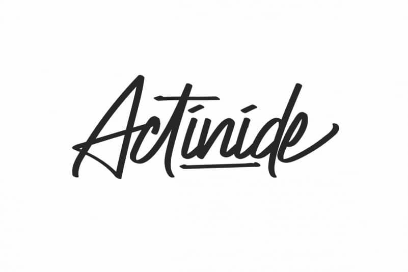Actinide Signature Font
