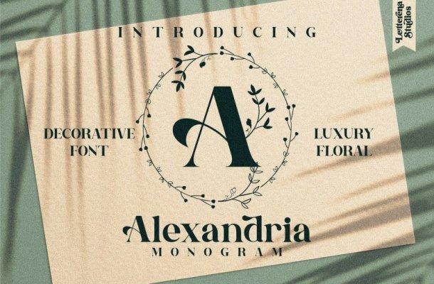 Alexandria Monogram Font