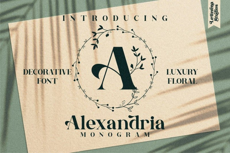 Alexandria Monogram Display Font