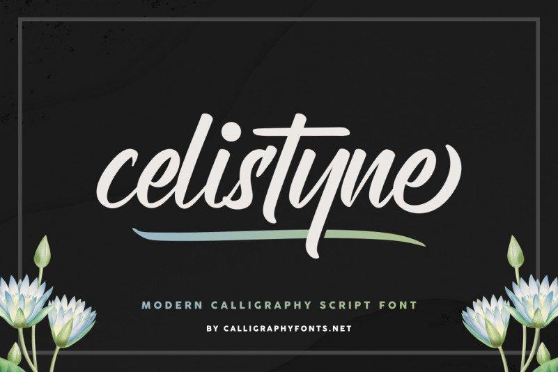 Celistyne Script Font