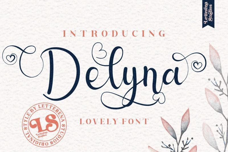 Delyna Calligraphy Font