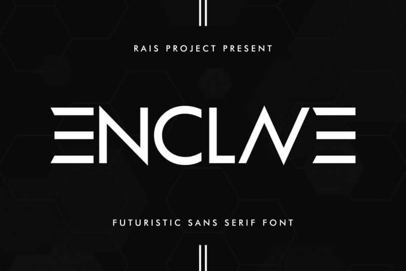 ENCLAVE Display Font