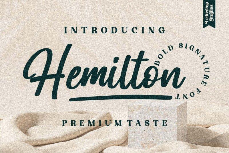 Hemilton Script Font