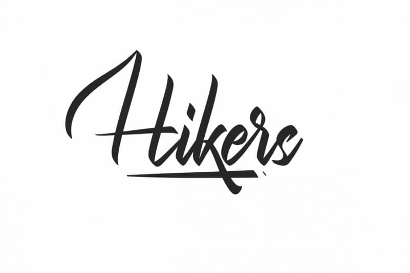 Hikers Calligraphy Font