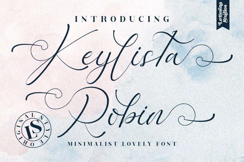 Keylista Robin Calligraphy Font