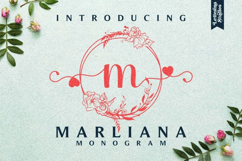 Marliana Monogram Display Font