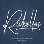 Rubellas Signature Font