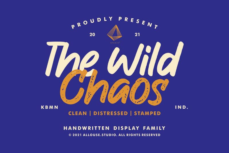 The Wild Chaos Display Font