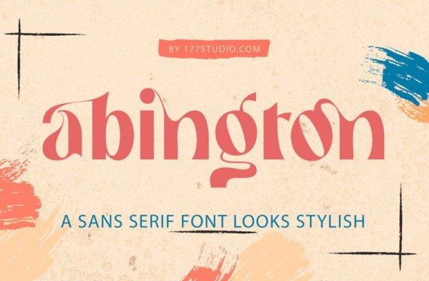 Abington Stylish Font