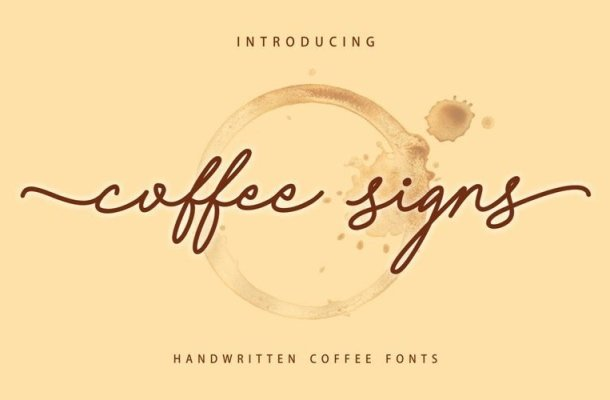 Coffee Signs Font