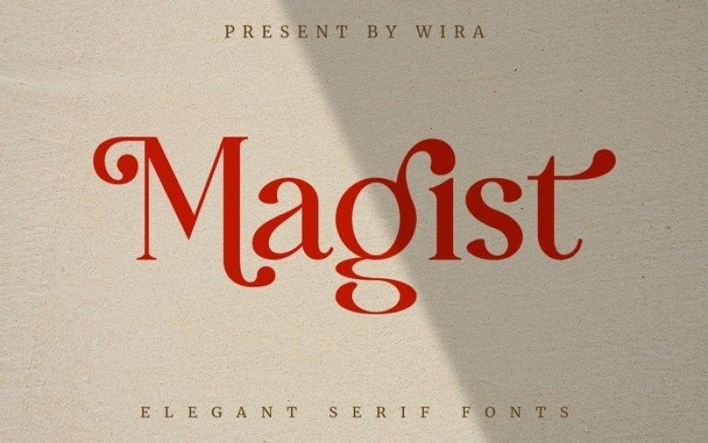 Magist Serif Font
