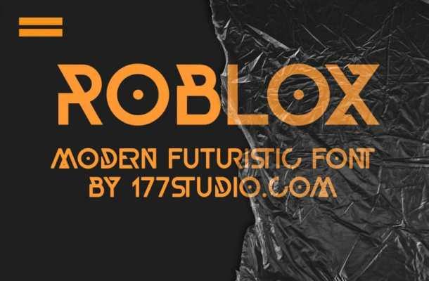 Roblox Geometric Font