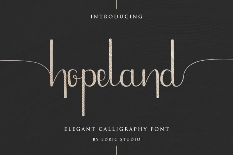 HopeLand Calligraphy Font