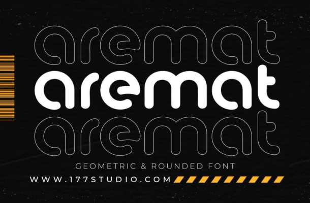 Aremat Geometric & Rounded Font