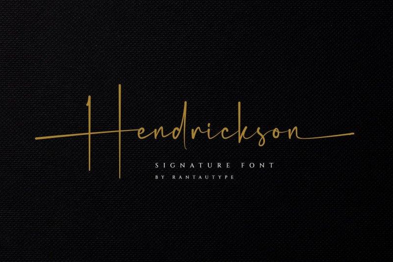 hendrickson-font