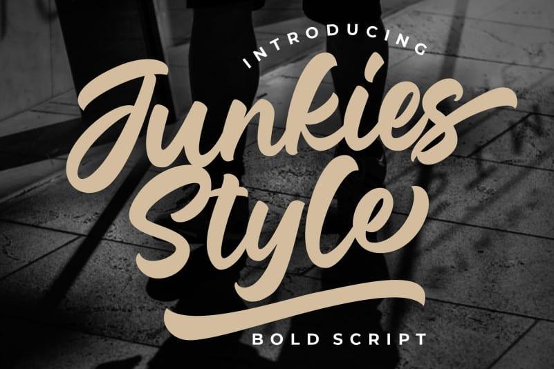 junkies-style-font
