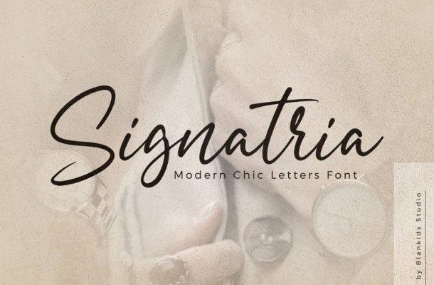 Signatria Font