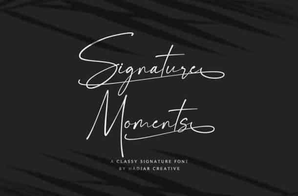 Signature Moments Font
