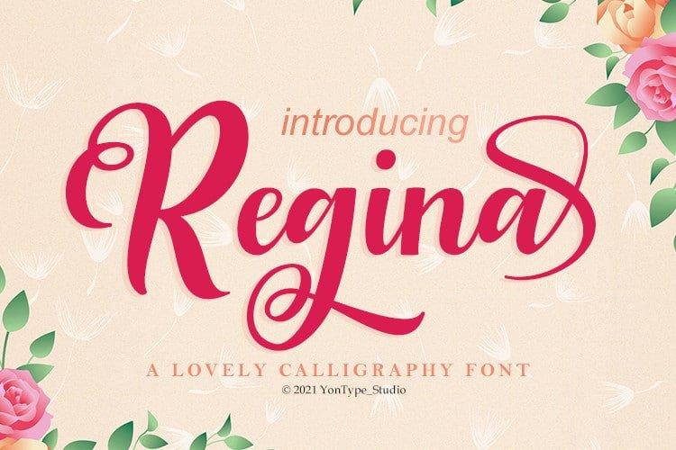 Regina Bold Script Font