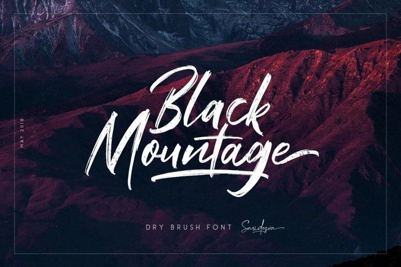 black-mountage font