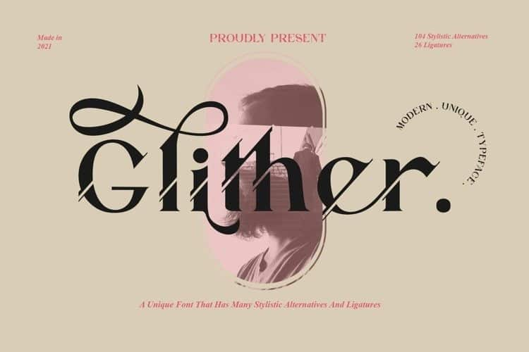 glither-font
