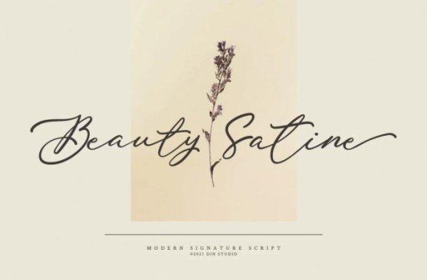 Beauty Satine Font