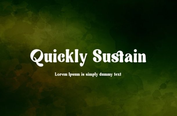 Quickly Sustain Font