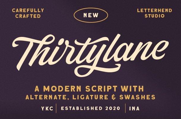 Thirtylane Font