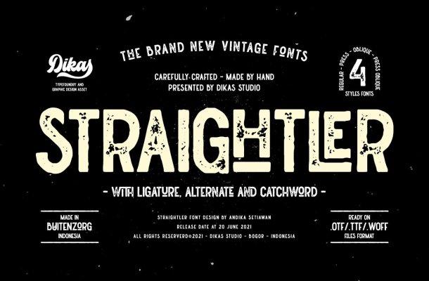 Straightler Font