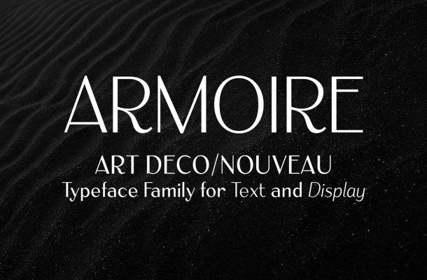 Armoire: Art Deco Font Family