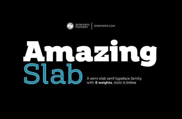 Amazing Slab Font Family