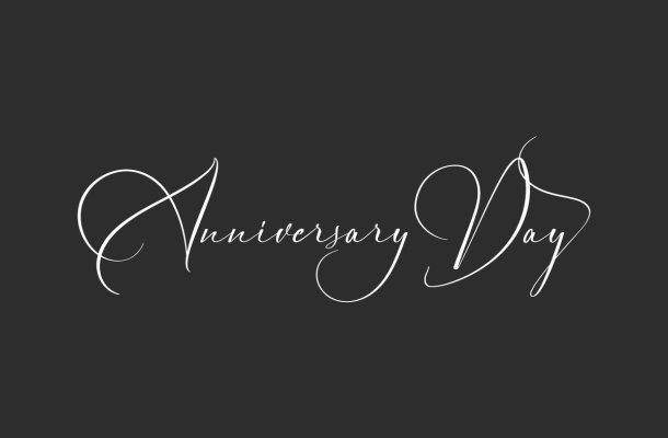 Anniversary Day Font