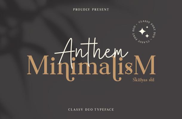 Anthem Minimalism font