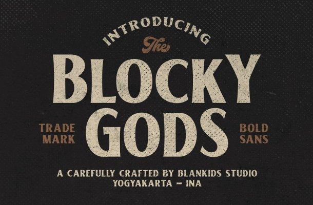Blocky Gods Font