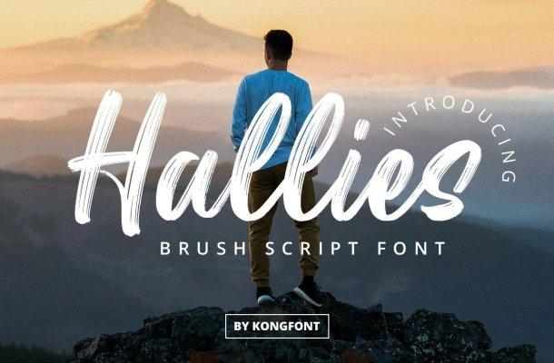 Hallies Font
