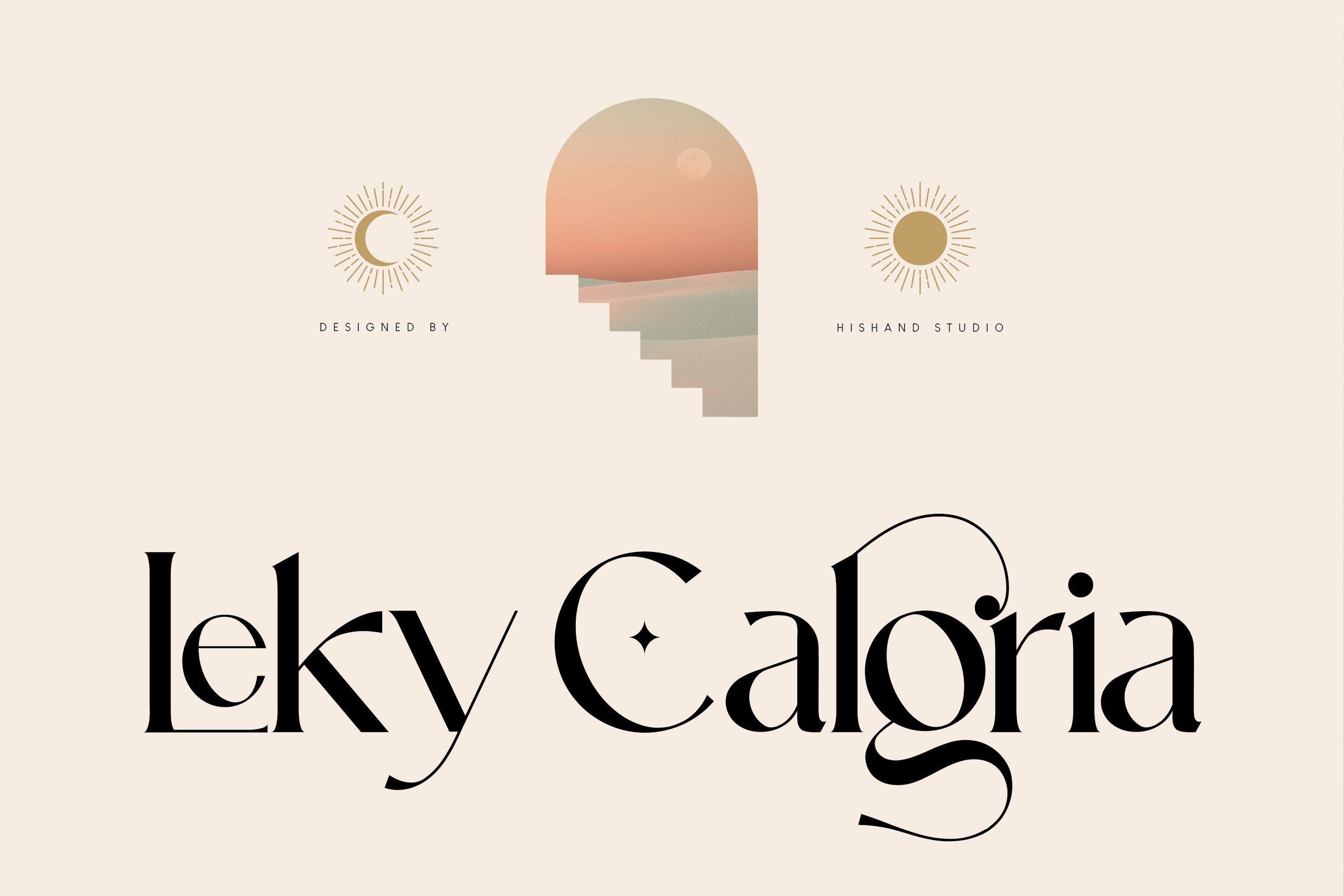 Leky Calgria Font